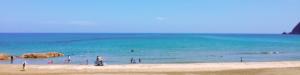 鳥取の海の水平線
